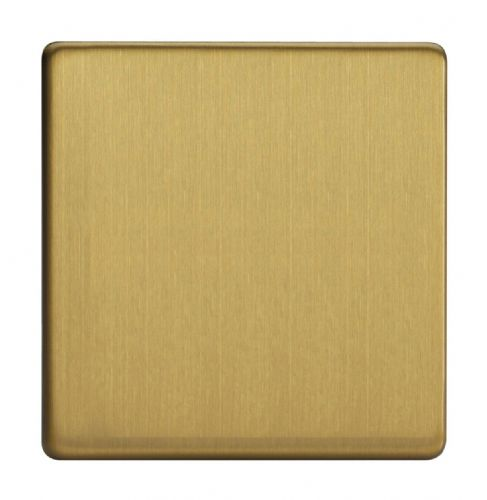 Varilight XDBSBS Screwless Brushed Brass 1 Gang Single Blank Plate